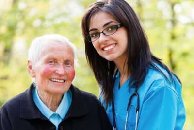 lady with a senior